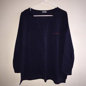 BRAND NEW ZARA Embroidered Sweatshirt